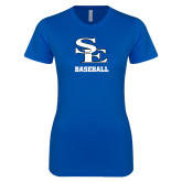 Next Level Ladies SoftStyle Junior Fitted Royal Tee-SE Baseball