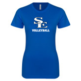 Next Level Ladies SoftStyle Junior Fitted Royal Tee-SE Volleyball