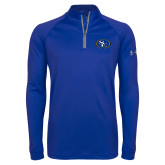 Under Armour Royal Tech 1/4 Zip Performance Shirt-SE Primary Logo