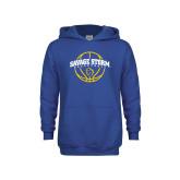 Youth Royal Fleece Hoodie-Savage Storm Basketball Arched
