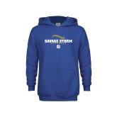 Youth Royal Fleece Hoodie-Savage Storm Baseball Seams