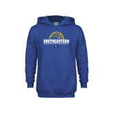 Youth Royal Fleece Hoodie-Southeastern Volleyball with Ball