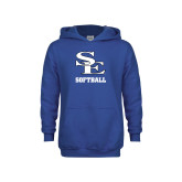 Youth Royal Fleece Hoodie-SE Softball