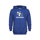 Youth Royal Fleece Hoodie-SE Volleyball