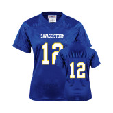Ladies Royal Replica Football Jersey-#12