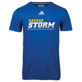 Adidas Climalite Royal Ultimate Performance Tee-Savage Storm Word Mark