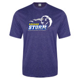 Performance Royal Heather Contender Tee-New Primary Logo