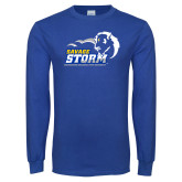 Royal Long Sleeve T Shirt-New Primary Logo