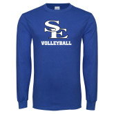 Royal Long Sleeve T Shirt-SE Volleyball