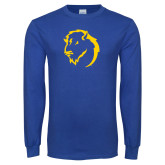 Royal Long Sleeve T Shirt-Mascot Head