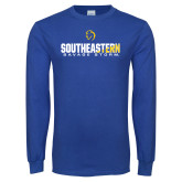 Royal Long Sleeve T Shirt-Southeastern Savage Storm Flat