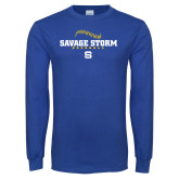 Royal Long Sleeve T Shirt-Savage Storm Baseball Seams