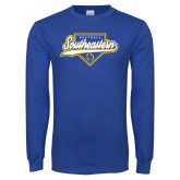 Royal Long Sleeve T Shirt-Southeastern Softball Script