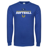 Royal Long Sleeve T Shirt-Savage Storm Softball Icon