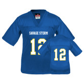 Youth Replica Royal Football Jersey-#12