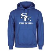 Royal Fleece Hoodie-SE Volleyball