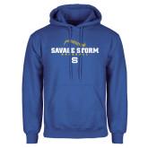 Royal Fleece Hoodie-Savage Storm Baseball Seams