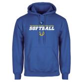 Royal Fleece Hoodie-Savage Storm Softball Icon