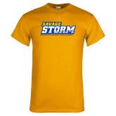 Gold T Shirt-Savage Storm Word Mark