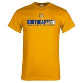 Gold T Shirt-Southeastern Savage Storm Flat