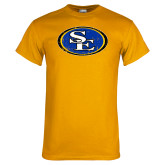 Gold T Shirt-SE Primary Logo Distressed