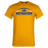 Gold T Shirt-Southeastern Football with Ball