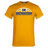 Gold T Shirt-Southeastern Basketball with Ball