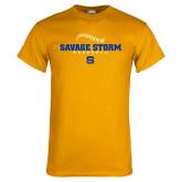 Gold T Shirt-Savage Storm Baseball Seams