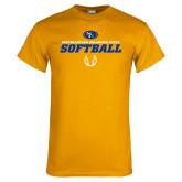 Gold T Shirt-Savage Storm Softball Icon