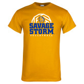 Gold T Shirt-Savage Storm Volleyball Stacked