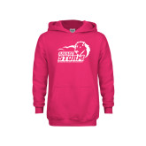Youth Raspberry Fleece Hoodie-New Primary Logo