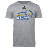 Adidas Sport Grey Logo T Shirt-New Primary Logo