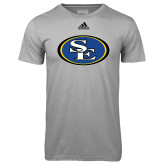 Adidas Climalite Sport Grey Ultimate Performance Tee-SE Primary Logo