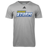 Adidas Climalite Sport Grey Ultimate Performance Tee-Savage Storm Word Mark