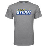 Grey T Shirt-Savage Storm Word Mark