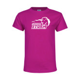 Youth Cyber Pink T Shirt-New Primary Logo