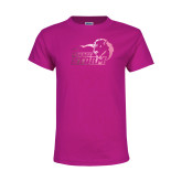 Youth Cyber Pink T Shirt-New Primary Logo Foil