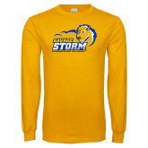 Gold Long Sleeve T Shirt-New Primary Logo