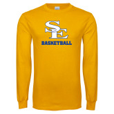 Gold Long Sleeve T Shirt-SE Basketball