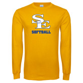 Gold Long Sleeve T Shirt-SE Softball