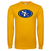 Gold Long Sleeve T Shirt-SE Primary Logo