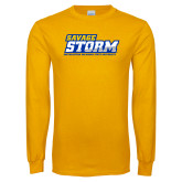 Gold Long Sleeve T Shirt-Savage Storm Word Mark