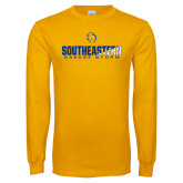 Gold Long Sleeve T Shirt-Southeastern Savage Storm Flat