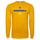 Gold Long Sleeve T Shirt-Savage Storm Baseball Icon