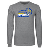 Grey Long Sleeve T Shirt-New Primary Logo