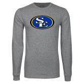 Grey Long Sleeve T Shirt-SE Primary Logo