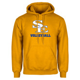Gold Fleece Hoodie-SE Volleyball
