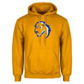 Gold Fleece Hoodie-Mascot Head