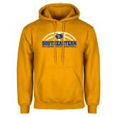 Gold Fleece Hoodie-Southeastern Basketball with Ball