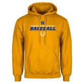 Gold Fleece Hoodie-Savage Storm Baseball Icon